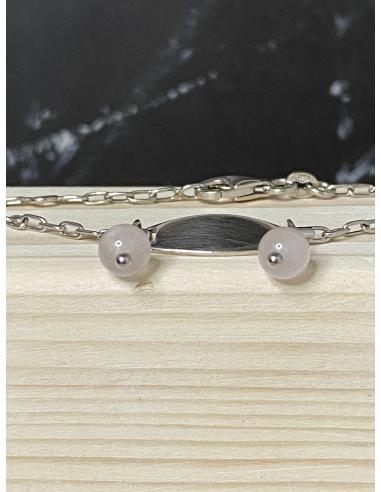 Bracelet identite quartz rose JUST'MINI