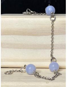bijoux artisanaux argent massif en ligne belgique avec pierres fines naturelles agate blue lace