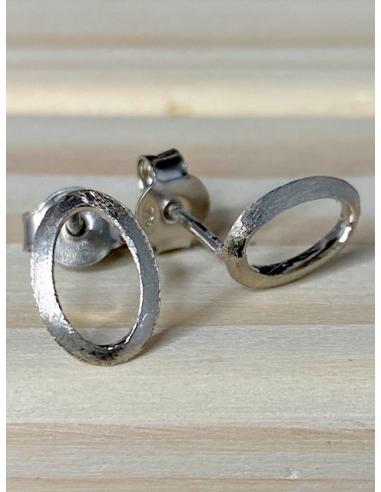 Boucles d'oreille argent motif ovale