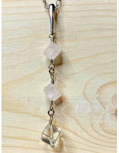 Collier argent FLO quartz...