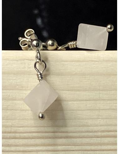 Pendentif d'oreille avec cube de...