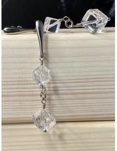 Création artisanale en argent rhodié avec minéraux pour femmes disponible en ligne ou dans notre bijouterie de Ramillies