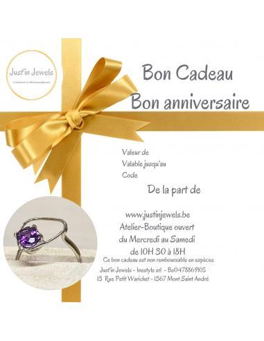 BON CADEAU ANNIVERSAIRE 75€