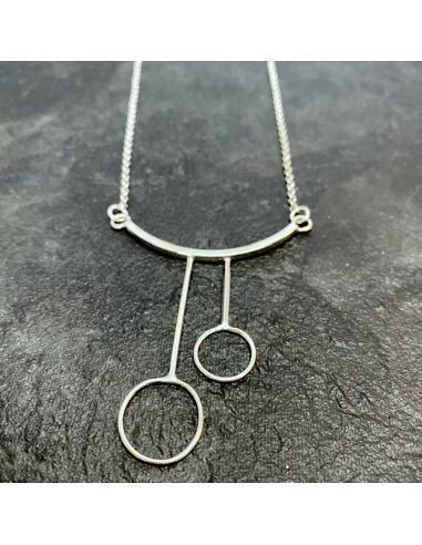 Collier LILI argent  double anneau