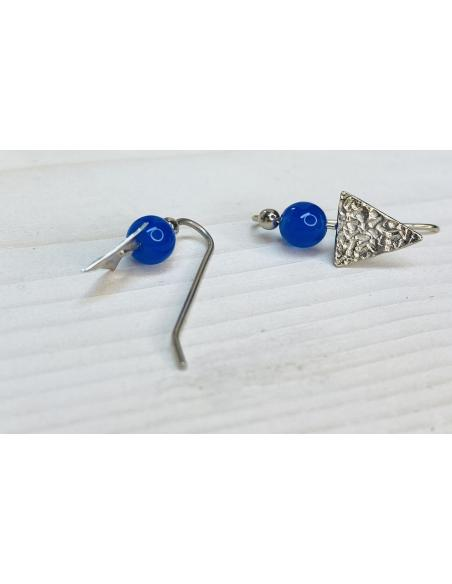 Création artisanale en argent  avec pierres. Crochet d'oreille pour femme vendu en ligne ou dans notre bijouterie de Ramillies