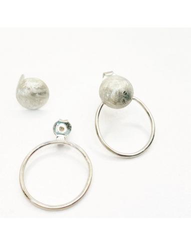 Boucle d'oreille disque et anneau