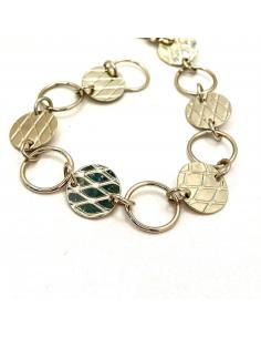 Bracelet disque et anneau MAYA