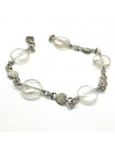 le bracelet argent et cristal de roche a été fait main dans notre atelier de Ramillies. Artisanat belge garanti sans nickel.