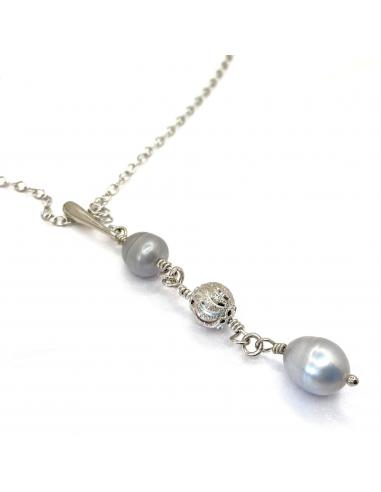 Collier argent Paula perles naturelles