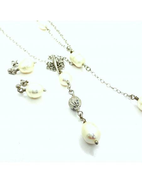 parure bijoux argent et perles naturelles vendus en e-shop ou dans notre bijouterie de Ramillies