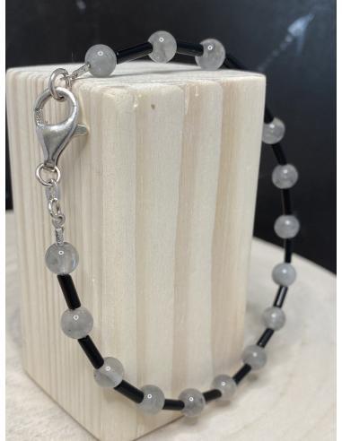 Bracelet artisanal argent avec quartz...