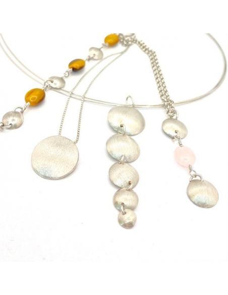 Collection Augustine argent rhodié avec ou sans pierres fines disponible dans notre e-shop ou notre bijouterie de Ramillies