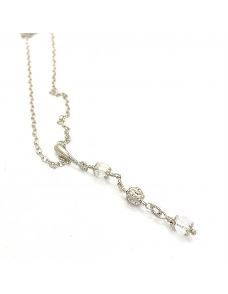 création artisanale collier argent et pierre fine cristal collection alexiane