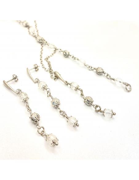 parure bijou femme argent collection alexiane cristal de roche pierre fine