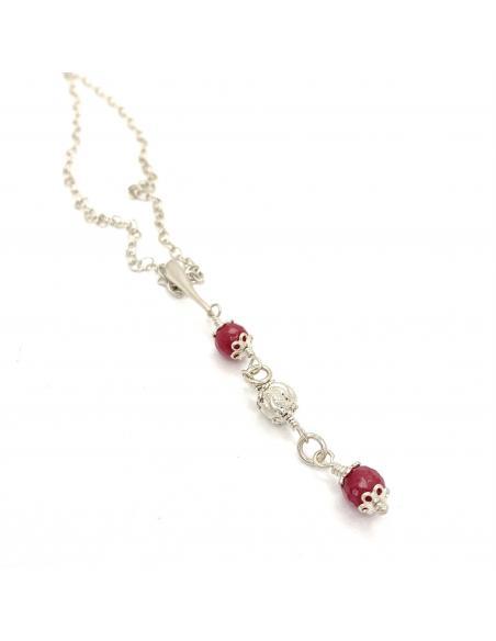 collier femme argent antiallergique fait main pierre fine rubis collection alexiane