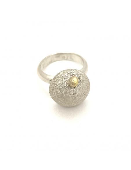 Bague artisanale argent et or just unique bijou pour femme