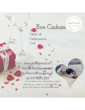 JUSTIN JEWELS artisan bijoutier belge bon cadeau St Valentin